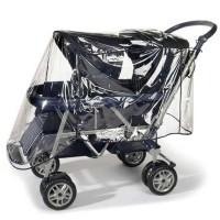 Regenschutz für Tandem Geschisterwagen