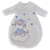 Jacky Baby Winterschlafsack Katze blau abnehmbare Ärmel