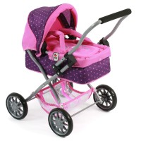 Bayer Chic 2000 Puppenwagen Smarty dots purple pink