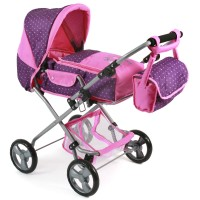 Bayer Chic 2000 Puppenwagen BAMBINA dots purple pink
