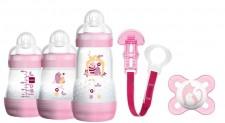 MAM Anti-Colic Starterset Girl Flaschenset Flasche Schnuller