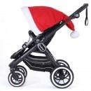 Mega Weihnachtsmütze rot für Emmaljunga Kinderwagen
