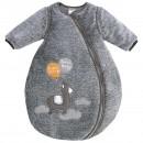 Jacky Baby Schlafsack Lama graumelange abnehmbare Ärmel wattiert Kuschelfleece Gr. 50 - 86