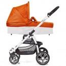 Gesslein S4 Air+ Set mit C3-Wanne orange Gestell weiss Sportwagen und Buggy